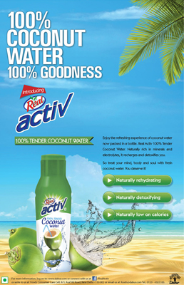 Dabur enters Packaged Coconut Water market with Real Activ