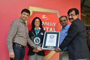 Dabur Red Paste creates Guinness World Record