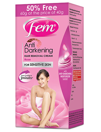 Fem Anti Darkening Hair Removal Cream-Rose