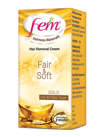 Fem Anti Darkening Hair Removal Cream-Gold
