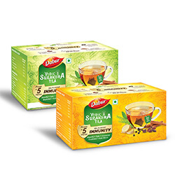 Dabur Vedic Suraksha Tea - Herbal Tea for Immunity
