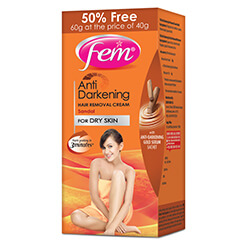 Fem Anti Darkening Hair Removal Cream-Sandal