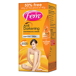 Fem Anti Darkening Hair Removal Cream - Turmeric